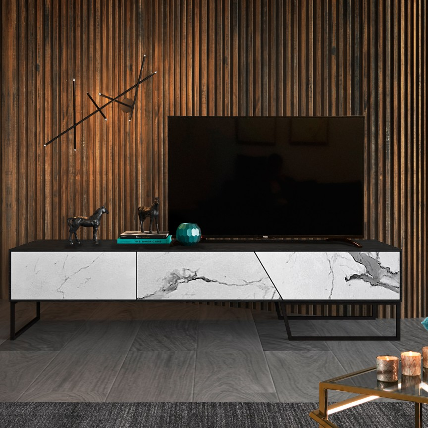 Comoda TV design modern KERALA SV-604437, Mobila si Decoratiuni, Corpuri de iluminat, lustre, aplice, veioze, lampadare, plafoniere. Mobilier si decoratiuni, oglinzi, scaune, fotolii. Oferte speciale iluminat interior si exterior. Livram in toata tara.  a
