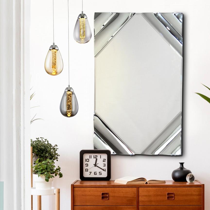 Oglinda de perete design decorativ 80x120cm Ondas SV-816052, Oglinzi decorative moderne✅ decoratiuni de perete cu oglinda⭐ modele mari si rotunde pentru Hol, Living, Dormitor si Baie.❤️Promotii la oglinzi cu design decorativ❗ Intra si vezi poze ✚ pret ➽ www.evalight.ro. ➽ sursa ta de inspiratie online❗ Alege oglinzi deosebite Art Deco de lux pentru decorare casa, fabricate de branduri renumite. Aici gasesti cele mai frumoase si rafinate obiecte de decor cu stil contemporan unicat, oglinzi elegante cu suport de prindere pe perete, de masa sau de podea potrivite pt dresing, cu rama din metal cu aspect antichizat sau lemn de culoare aurie, sticla argintie in diferite forme: oglinzi in forma de soare, hexagonale tip fagure hexagon, ovale, patrate mici, rectangulara sau dreptunghiulara, design original exclusivist: industrial style, retro, vintage (produse manual handmade), scandinav nordic, clasic, baroc, glamour, romantic, rustic, minimalist. Tendinte si idei actuale de designer pentru amenajari interioare premium Top 2020❗ Oferte si reduceri speciale cu vanzare rapida din stoc, oglinzi de calitate la cel mai bun pret. a