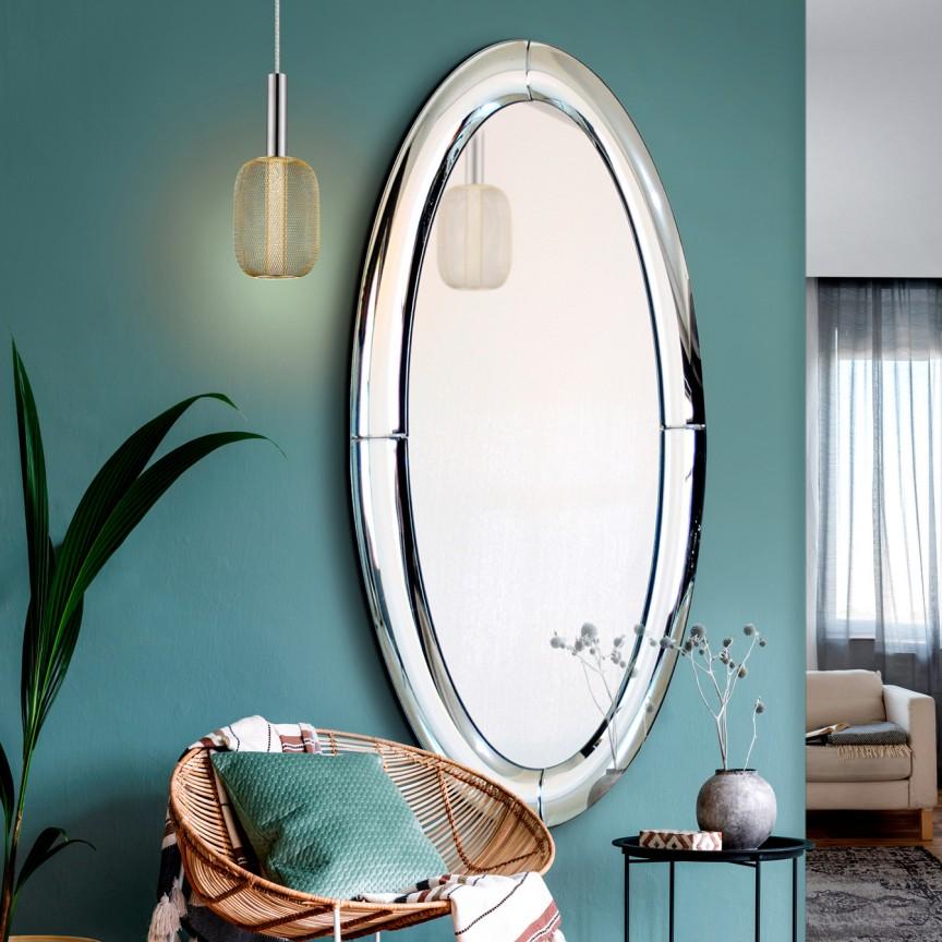 Oglinda de perete ovala design decorativ 80x150cm CURVES SV-724012, Mobila si Decoratiuni, Corpuri de iluminat, lustre, aplice, veioze, lampadare, plafoniere. Mobilier si decoratiuni, oglinzi, scaune, fotolii. Oferte speciale iluminat interior si exterior. Livram in toata tara.  a