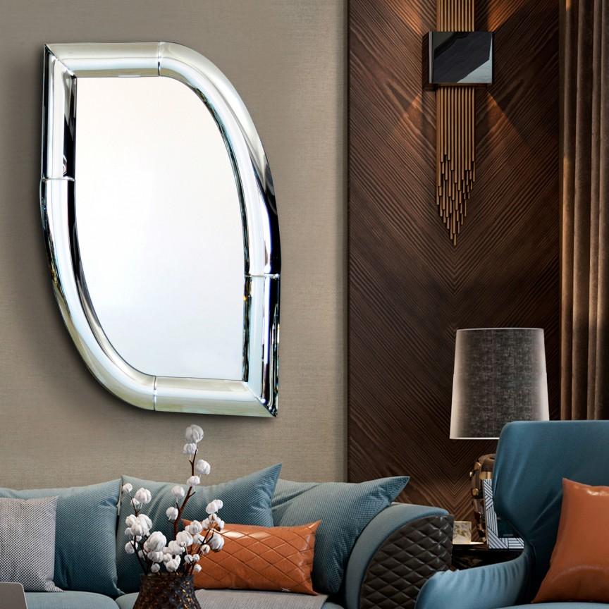 Oglinda de perete design decorativ 79x120cm CURVES SV-724128, Mobila si Decoratiuni, Corpuri de iluminat, lustre, aplice, veioze, lampadare, plafoniere. Mobilier si decoratiuni, oglinzi, scaune, fotolii. Oferte speciale iluminat interior si exterior. Livram in toata tara.  a