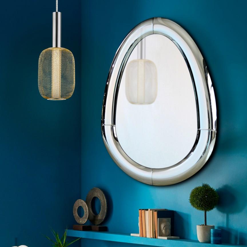 Oglinda de perete design decorativ 80x115cm CURVES SV-724234, Mobila si Decoratiuni, Corpuri de iluminat, lustre, aplice, veioze, lampadare, plafoniere. Mobilier si decoratiuni, oglinzi, scaune, fotolii. Oferte speciale iluminat interior si exterior. Livram in toata tara.  a