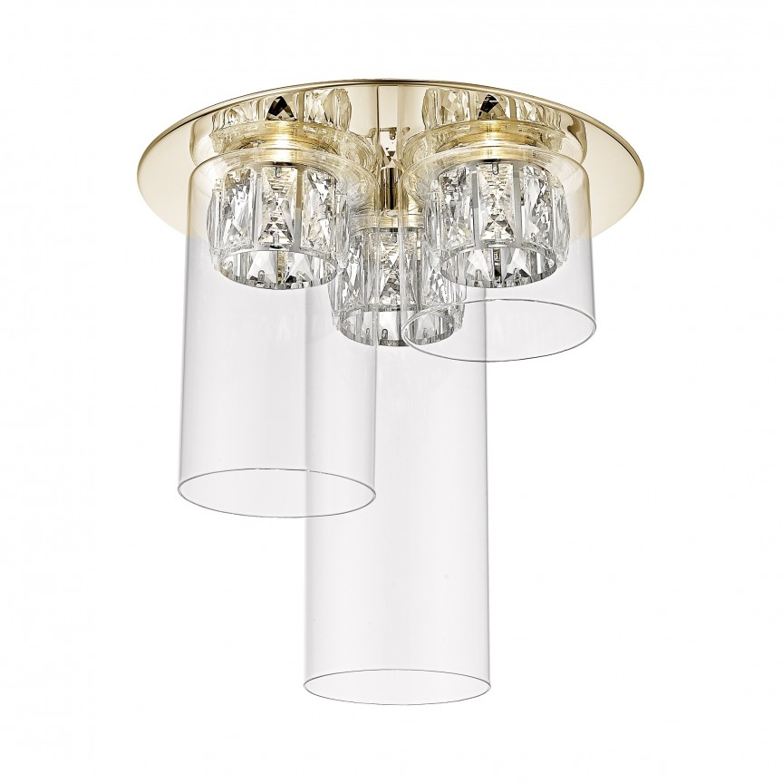 Lustra LED aplicata design modern GEM auriu C0389-03F-F7AC ZL, Lustre moderne aplicate, Corpuri de iluminat, lustre, aplice, veioze, lampadare, plafoniere. Mobilier si decoratiuni, oglinzi, scaune, fotolii. Oferte speciale iluminat interior si exterior. Livram in toata tara.  a