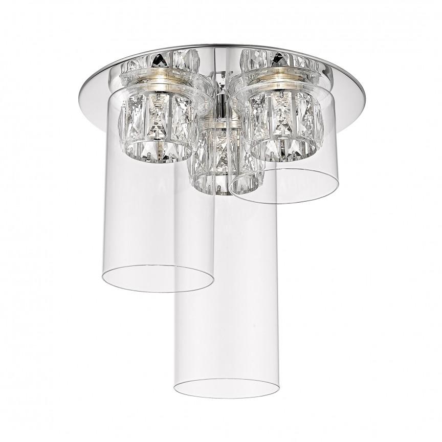 Lustra LED aplicata design modern GEM argintiu C0389-03F-B5AC ZL, Plafoniere moderne, Corpuri de iluminat, lustre, aplice, veioze, lampadare, plafoniere. Mobilier si decoratiuni, oglinzi, scaune, fotolii. Oferte speciale iluminat interior si exterior. Livram in toata tara.  a