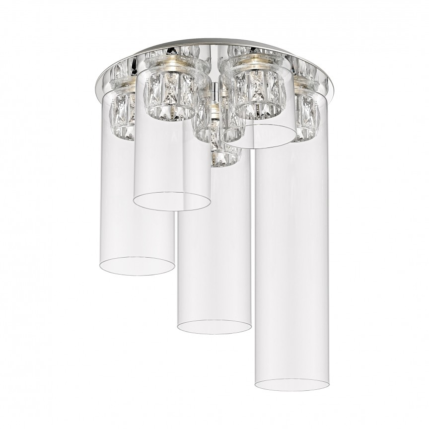 Lustra LED aplicata design modern GEM argintiu C0389-05F-B5AC ZL, Lustre moderne aplicate, Corpuri de iluminat, lustre, aplice, veioze, lampadare, plafoniere. Mobilier si decoratiuni, oglinzi, scaune, fotolii. Oferte speciale iluminat interior si exterior. Livram in toata tara.  a