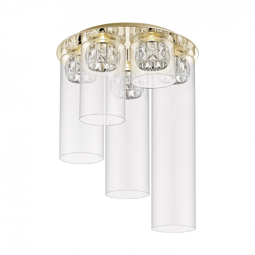 Lustra LED aplicata design modern GEM auriu C0389-05F-F7AC ZL, Plafoniere moderne, Corpuri de iluminat, lustre, aplice, veioze, lampadare, plafoniere. Mobilier si decoratiuni, oglinzi, scaune, fotolii. Oferte speciale iluminat interior si exterior. Livram in toata tara.  a
