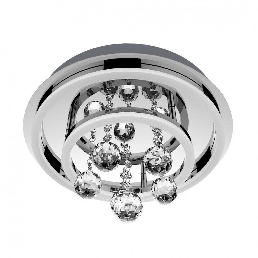 Lustra LED aplicata MALAWI B180607-2 ZL, Plafoniere LED, Spoturi LED, Corpuri de iluminat, lustre, aplice, veioze, lampadare, plafoniere. Mobilier si decoratiuni, oglinzi, scaune, fotolii. Oferte speciale iluminat interior si exterior. Livram in toata tara.  a