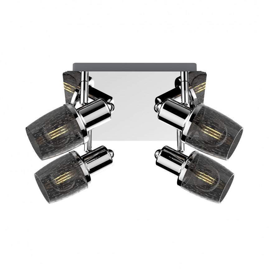 Plafoniera cu 4 spoturi design clasic POSO CK180612-4 ZL, Spoturi - iluminat - cu 4 spoturi, Corpuri de iluminat, lustre, aplice, veioze, lampadare, plafoniere. Mobilier si decoratiuni, oglinzi, scaune, fotolii. Oferte speciale iluminat interior si exterior. Livram in toata tara.  a