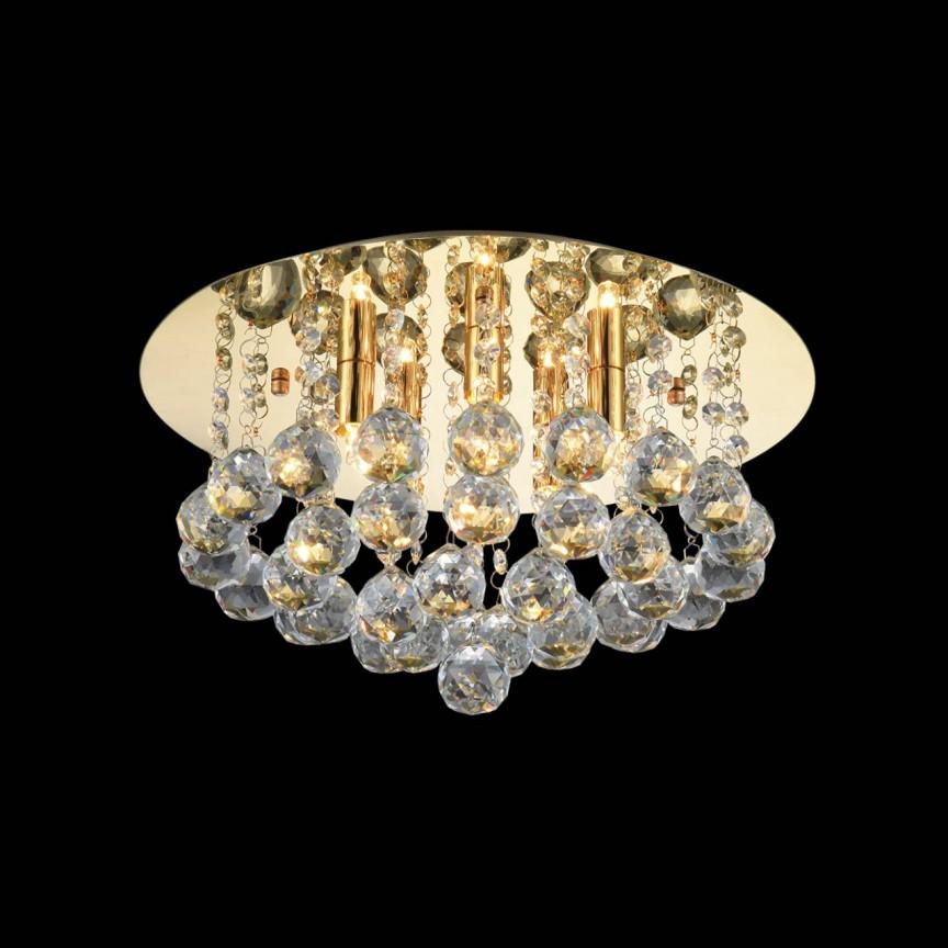 Lustra design elegant BOLLA 38 auriu ZZ AZ3083, Lustre moderne aplicate, Corpuri de iluminat, lustre, aplice, veioze, lampadare, plafoniere. Mobilier si decoratiuni, oglinzi, scaune, fotolii. Oferte speciale iluminat interior si exterior. Livram in toata tara.  a