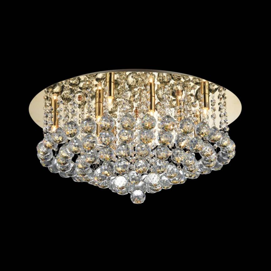 Lustra design elegant BOLLA 58 auriu ZZ AZ3084, Lustre moderne aplicate, Corpuri de iluminat, lustre, aplice, veioze, lampadare, plafoniere. Mobilier si decoratiuni, oglinzi, scaune, fotolii. Oferte speciale iluminat interior si exterior. Livram in toata tara.  a