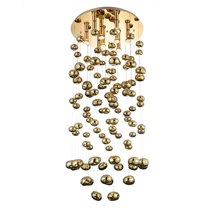 Lustra XL moderna design deosebit Ø60cm Luvia auriu ZZ AZ3073, Candelabre, Lustre moderne, Corpuri de iluminat, lustre, aplice, veioze, lampadare, plafoniere. Mobilier si decoratiuni, oglinzi, scaune, fotolii. Oferte speciale iluminat interior si exterior. Livram in toata tara.  a