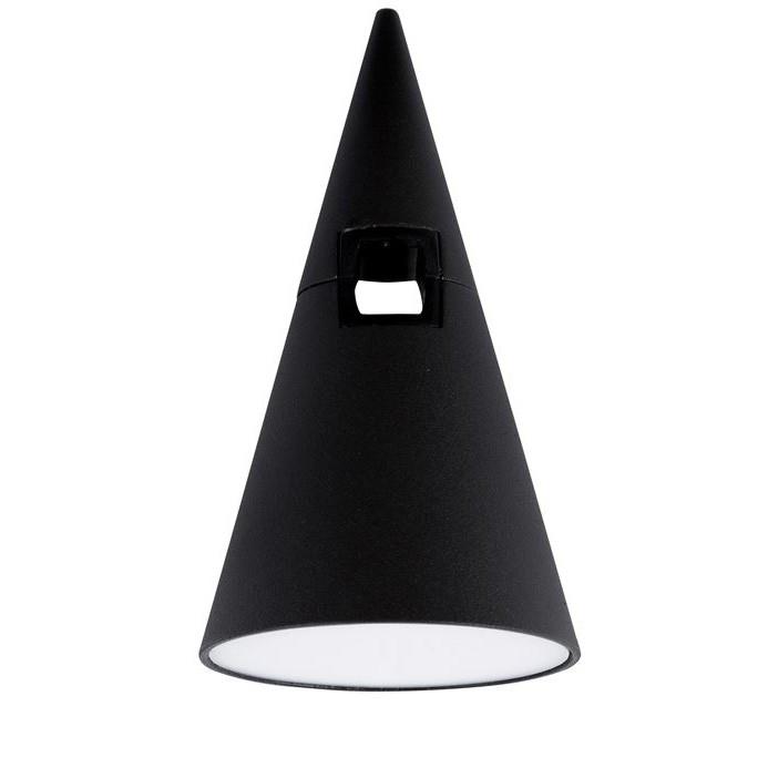 Accesoriu, Corp de iluminat pentru sistemul magnetic PUZZLE si GRAMMI, Cono negru, Spoturi, Proiectoare pe sina,  a