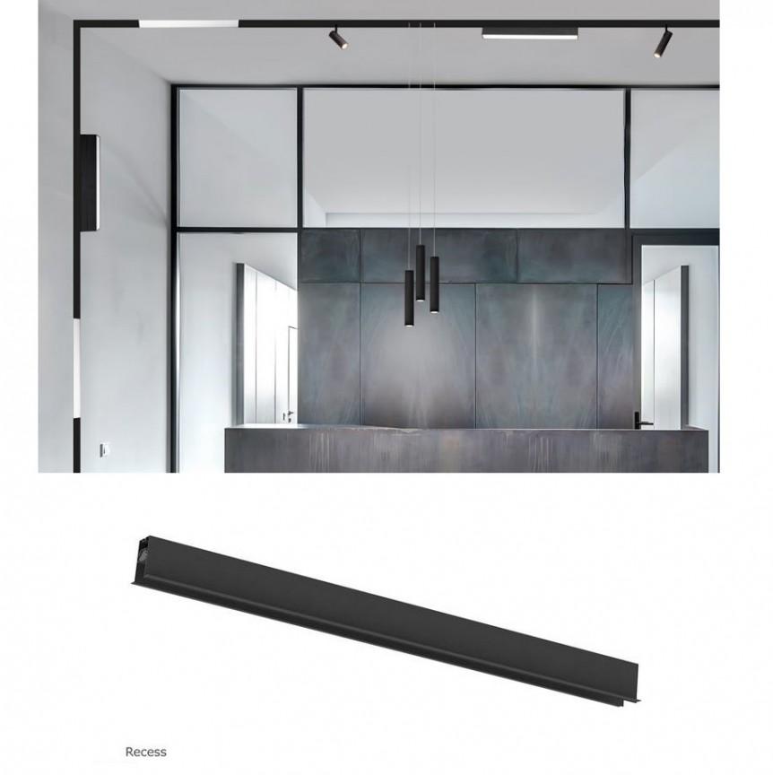 Sina magnetica incastrabila BUXTON 02, 1000cm NVL-8252002, Proiectoare LED spatii comerciale, Corpuri de iluminat, lustre, aplice, veioze, lampadare, plafoniere. Mobilier si decoratiuni, oglinzi, scaune, fotolii. Oferte speciale iluminat interior si exterior. Livram in toata tara.  a