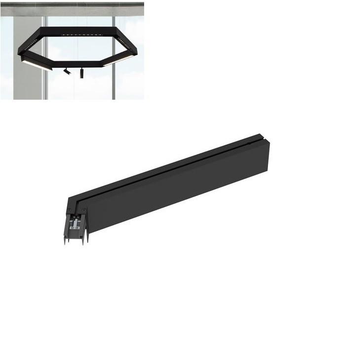 Sina magnetica pentru instalatii hexagon, aplicate sau suspendate BUXTON 03, 47,4cm NVL-8252034, Spoturi pe sina⭐ corpuri de iluminat si proiectoare pe sina tavan cu spoturi LED.✅Design decorativ modern 2021!❤️Promotii lampi pe sina LED❗ ➽www.evalight.ro. Alege oferte la colectile NOI de sisteme de iluminare interior de tip spot pe sina metalica, reglabile, aplicate sau montate suspendate pe tavan, perete sau mobila, modele potrivite pt magazine, spatii comerciale sau casa, solutii tehnice profesionale de calitate la cel mai bun pret. a