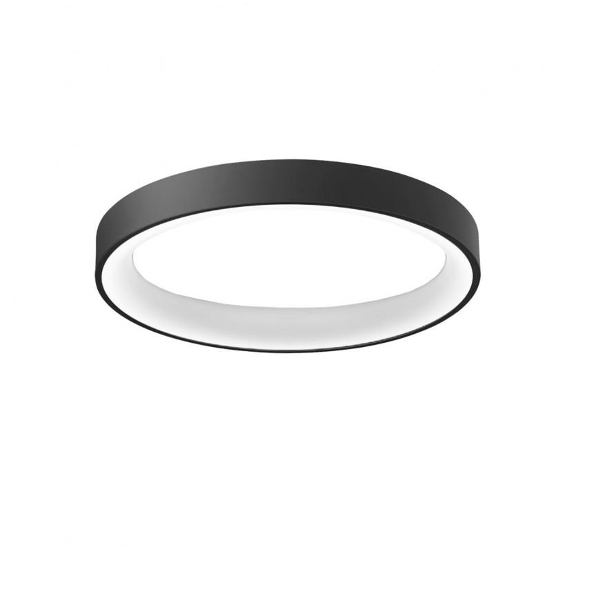 Lustra LED dimabila cu telecomanda SOVANA TOP 80 neagra ZZ AZ3446, Lampi LED si Telecomanda,  a