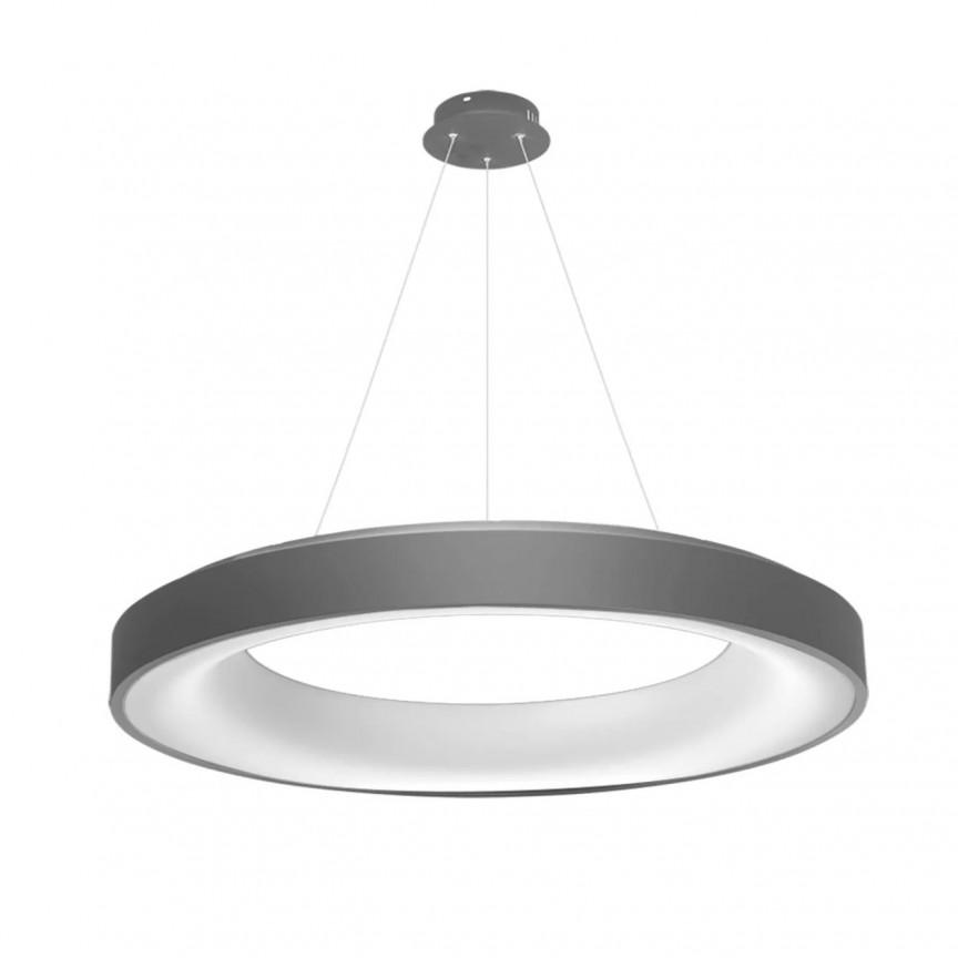 Lustra LED dimabila cu telecomanda SOVANA 80 gri ZZ AZ3450, Lampi LED si Telecomanda,  a