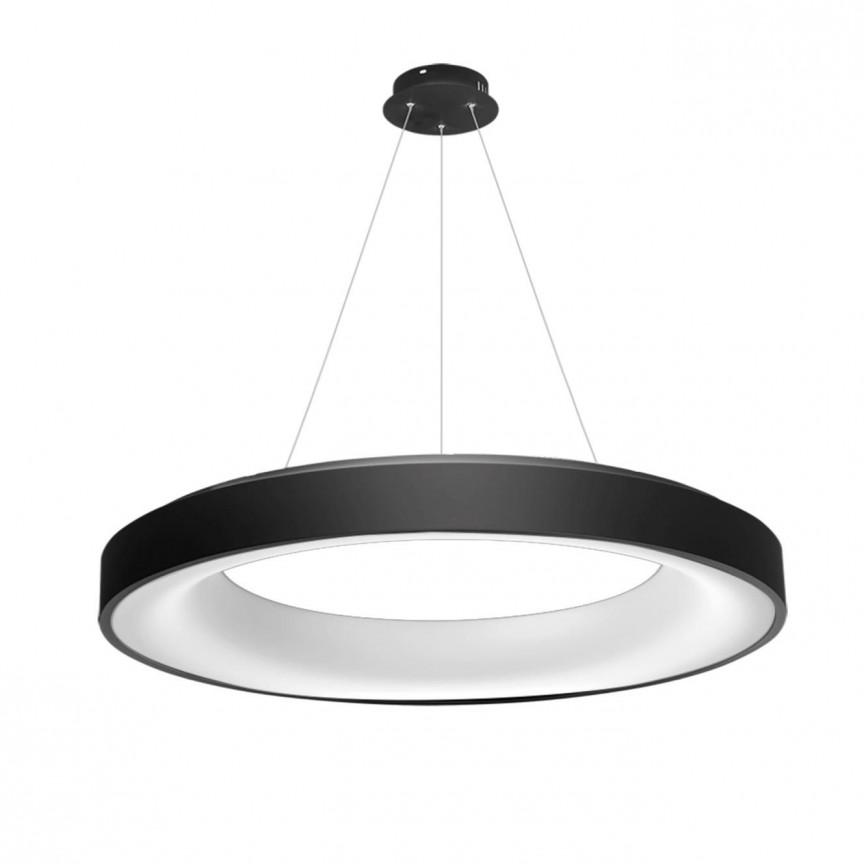 Lustra LED dimabila cu telecomanda SOVANA 80 neagra ZZ AZ3449, Lampi LED si Telecomanda,  a