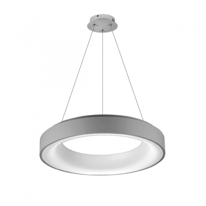 Lustra LED dimabila cu telecomanda SOVANA 45 gri ZZ AZ3438, Lampi LED si Telecomanda,  a