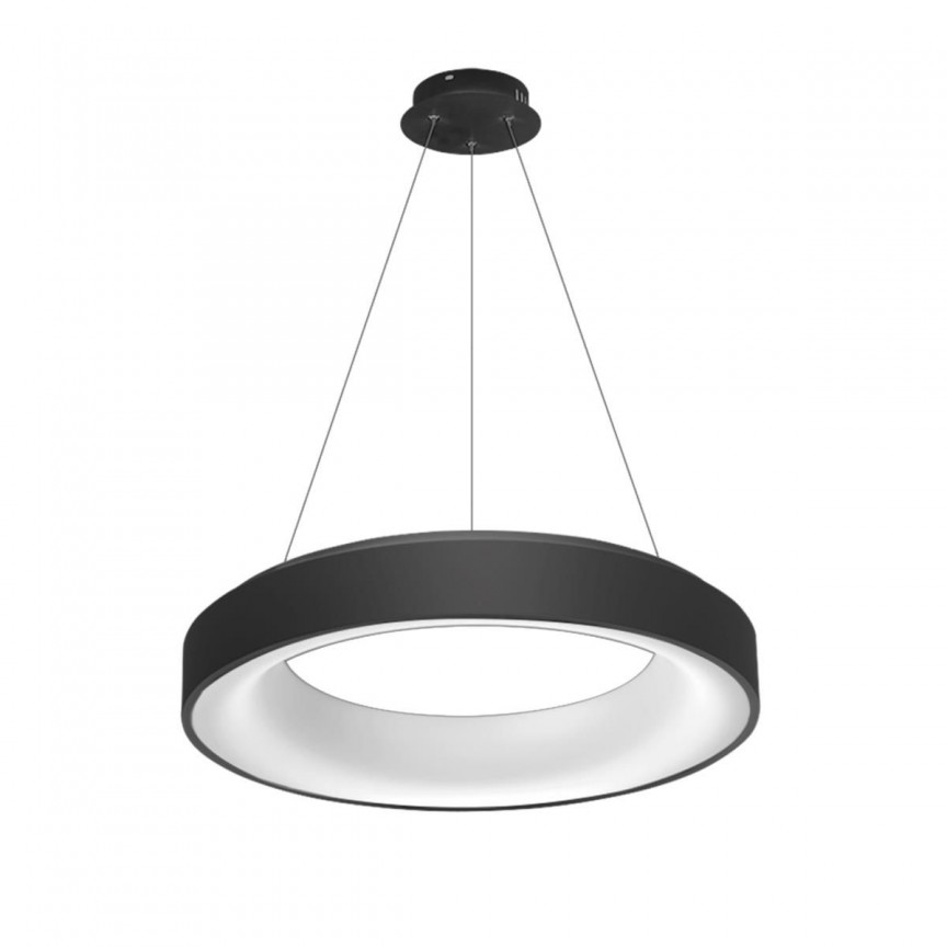 Lustra LED dimabila cu telecomanda SOVANA 45 neagra ZZ AZ3437, Lampi LED si Telecomanda,  a