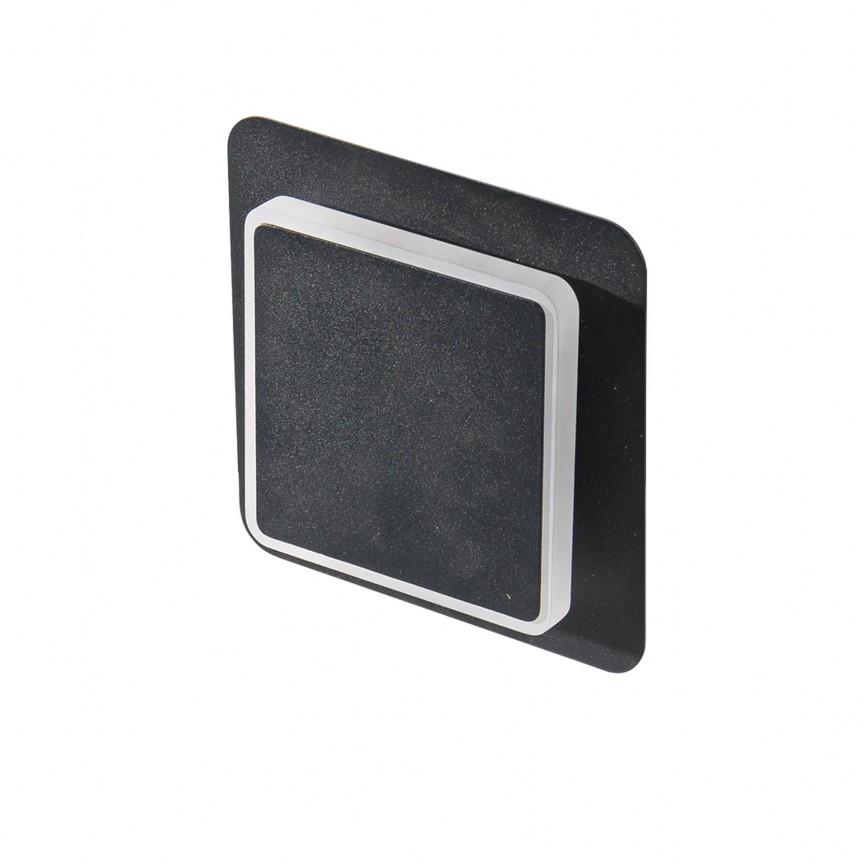 Aplica de perete LED ambientala Onyx neagra ZZ AZ3358, Aplice de perete moderne, Corpuri de iluminat, lustre, aplice, veioze, lampadare, plafoniere. Mobilier si decoratiuni, oglinzi, scaune, fotolii. Oferte speciale iluminat interior si exterior. Livram in toata tara.  a