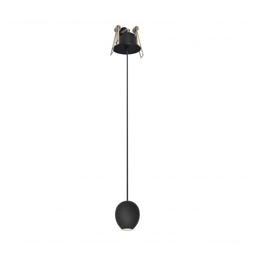 Pendul LED incastrabil tavan/plafon cu spot modern Ovum ZZ AZ3096, Pendule, Lustre suspendate, Corpuri de iluminat, lustre, aplice, veioze, lampadare, plafoniere. Mobilier si decoratiuni, oglinzi, scaune, fotolii. Oferte speciale iluminat interior si exterior. Livram in toata tara.  a