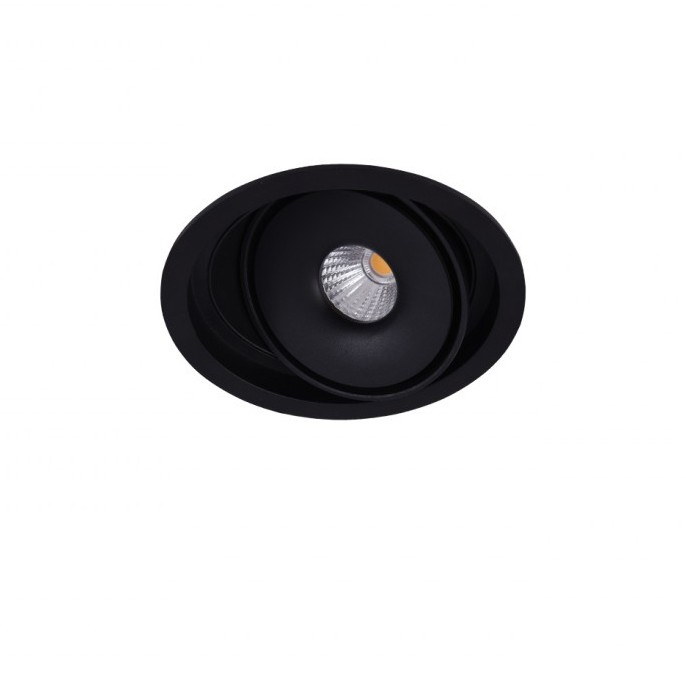 Spot LED incastrabil directionabil de tavan/plafon BOSTON 1 ROUND negru, Spoturi incastrate - tavan fals / perete, Corpuri de iluminat, lustre, aplice, veioze, lampadare, plafoniere. Mobilier si decoratiuni, oglinzi, scaune, fotolii. Oferte speciale iluminat interior si exterior. Livram in toata tara.  a