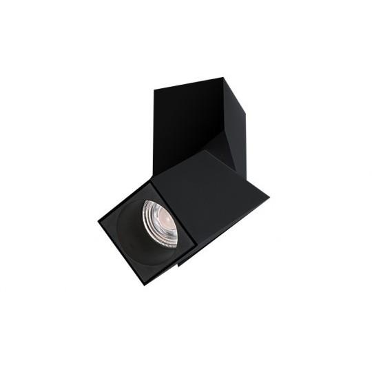Spot LED aplicat directionabil design modern Santos Square negru ZZ AZ3523, Spoturi aplicate - tavan / perete, Corpuri de iluminat, lustre, aplice, veioze, lampadare, plafoniere. Mobilier si decoratiuni, oglinzi, scaune, fotolii. Oferte speciale iluminat interior si exterior. Livram in toata tara.  a