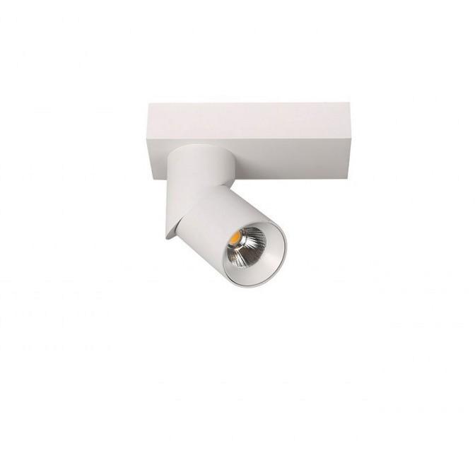 Spot LED aplicat directionabil design modern Santos Round alb ZZ AZ3508, Spoturi aplicate - tavan / perete, Corpuri de iluminat, lustre, aplice, veioze, lampadare, plafoniere. Mobilier si decoratiuni, oglinzi, scaune, fotolii. Oferte speciale iluminat interior si exterior. Livram in toata tara.  a