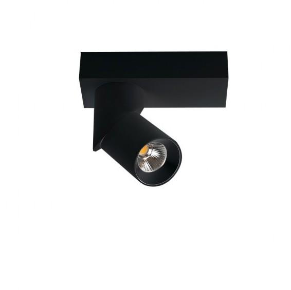 Spot LED aplicat directionabil design modern Santos Round negru ZZ AZ3509, Spoturi aplicate - tavan / perete, Corpuri de iluminat, lustre, aplice, veioze, lampadare, plafoniere. Mobilier si decoratiuni, oglinzi, scaune, fotolii. Oferte speciale iluminat interior si exterior. Livram in toata tara.  a