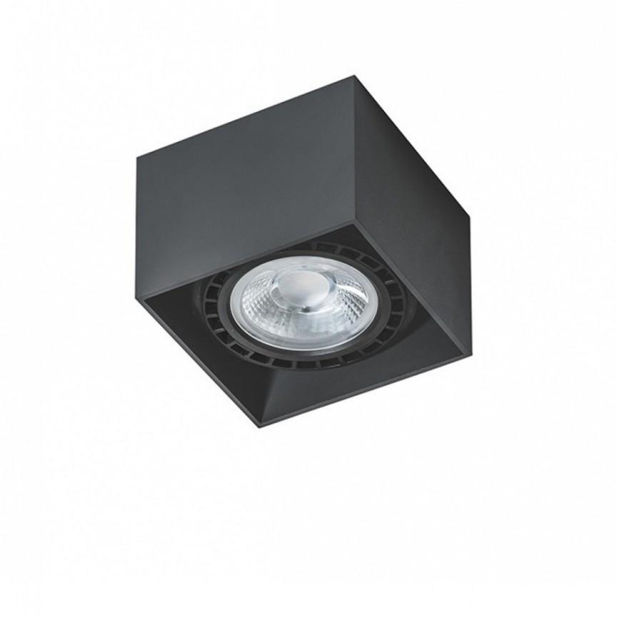 Spot aplicat de tavan/plafon ECO ALEX negru ZZ AZ1834, Spoturi aplicate - tavan / perete, Corpuri de iluminat, lustre, aplice, veioze, lampadare, plafoniere. Mobilier si decoratiuni, oglinzi, scaune, fotolii. Oferte speciale iluminat interior si exterior. Livram in toata tara.  a