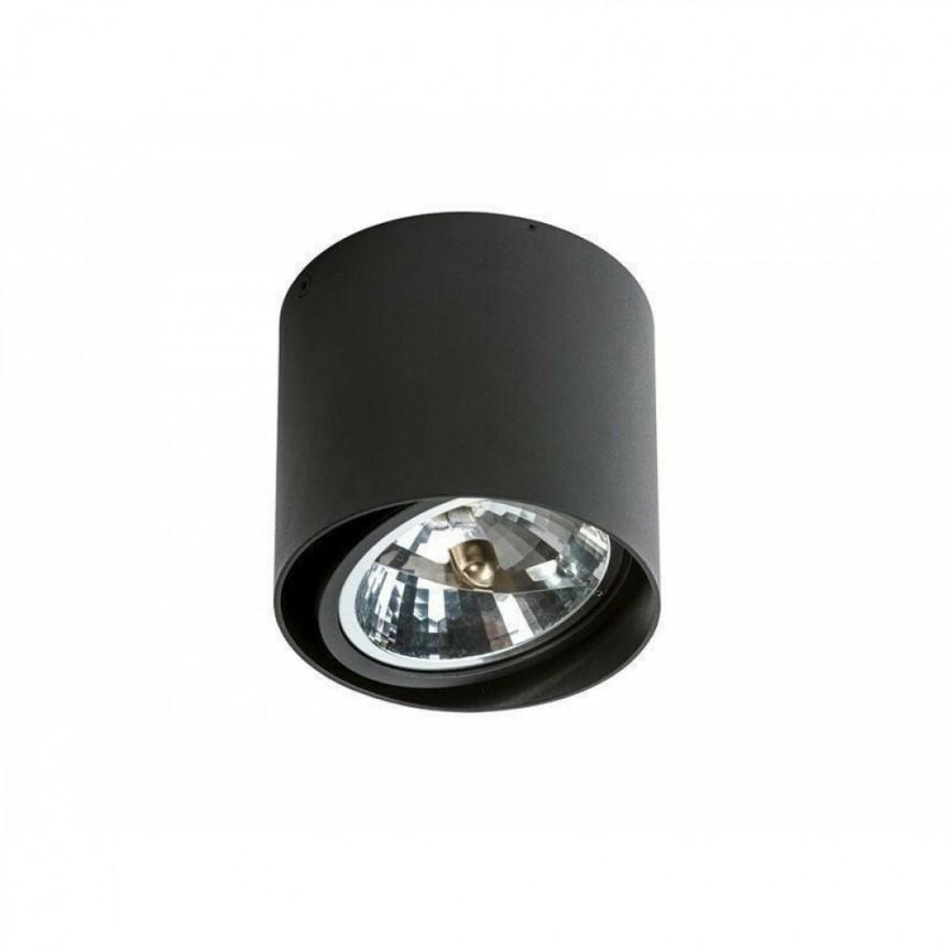 Spot aplicat directionabil de tavan/plafon ALIX negru ZZ AZ1357, Spoturi aplicate - tavan / perete, Corpuri de iluminat, lustre, aplice, veioze, lampadare, plafoniere. Mobilier si decoratiuni, oglinzi, scaune, fotolii. Oferte speciale iluminat interior si exterior. Livram in toata tara.  a