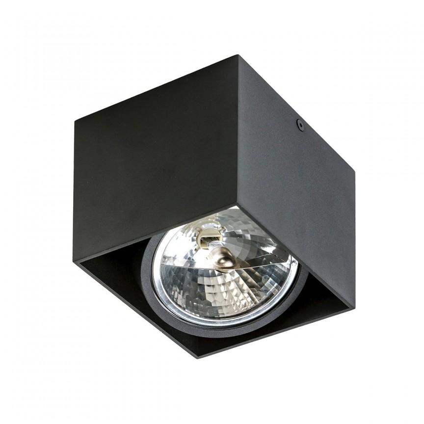 Spot aplicat directionabil de tavan/plafon ALEX negru ZZ AZ1358, Spoturi aplicate - tavan / perete, Corpuri de iluminat, lustre, aplice, veioze, lampadare, plafoniere. Mobilier si decoratiuni, oglinzi, scaune, fotolii. Oferte speciale iluminat interior si exterior. Livram in toata tara.  a