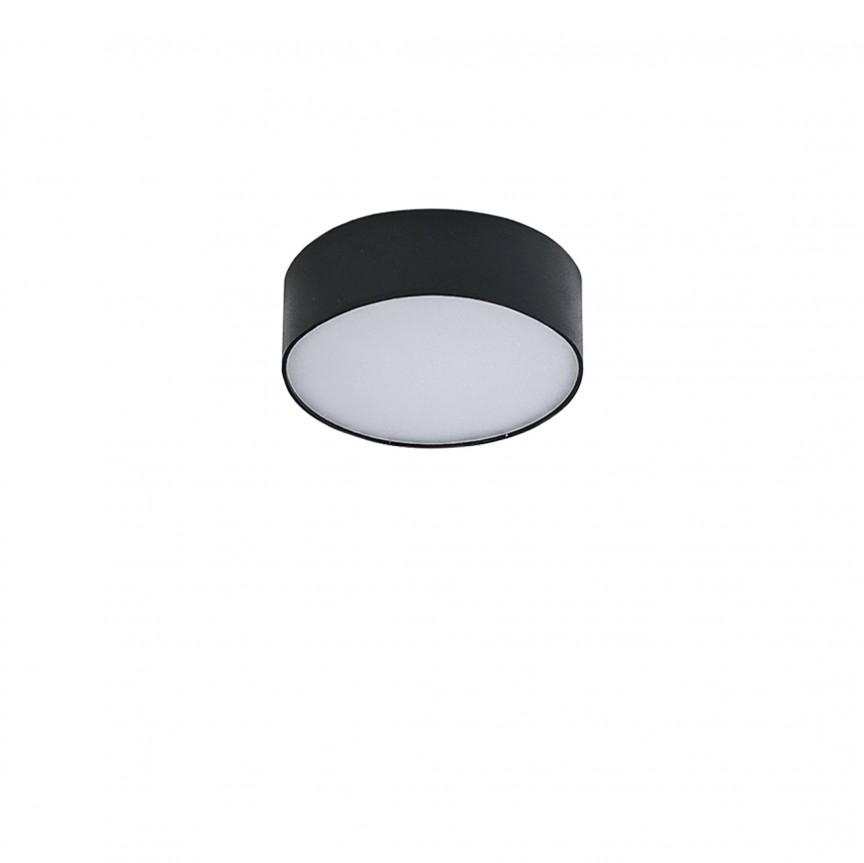 Mini Plafoniera LED design slim MONZA II R17 4000K negru ZZ AZ3792, Plafoniere LED, Spoturi LED, Corpuri de iluminat, lustre, aplice, veioze, lampadare, plafoniere. Mobilier si decoratiuni, oglinzi, scaune, fotolii. Oferte speciale iluminat interior si exterior. Livram in toata tara.  a