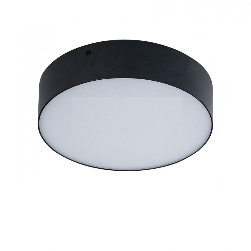 Plafoniera LED design slim MONZA II R30 4000K neagra ZZ AZ3796, Plafoniere LED, Spoturi LED, Corpuri de iluminat, lustre, aplice, veioze, lampadare, plafoniere. Mobilier si decoratiuni, oglinzi, scaune, fotolii. Oferte speciale iluminat interior si exterior. Livram in toata tara.  a