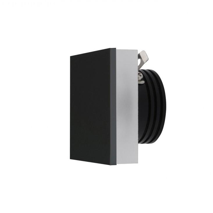 Spot LED incastrabil ambiental trepte/scari OZ negru ZZ AZ3372, Spoturi LED incastrate, aplicate,  a