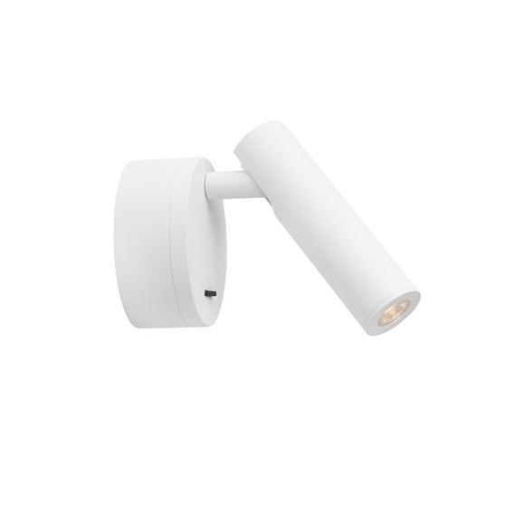 Aplica LED cu spot directionabil design minimalist CLIP alba NVL-9030201, Spoturi - iluminat - cu 1 spot,  a