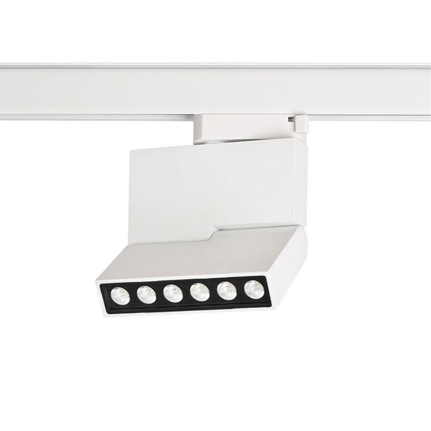 Spot LED directionabil pe sina LEON 5 TRACK alb ZZ AZ3490, Spoturi, Proiectoare pe sina,  a