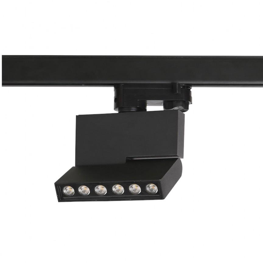 Spot LED directionabil pe sina LEON 5 TRACK negru ZZ AZ3491, Spoturi, Proiectoare pe sina,  a