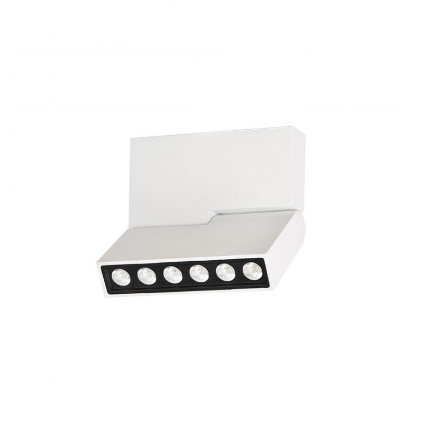 Spot LED aplicat directionabil de tavan/plafon LEON 5 alb ZZ AZ3488, Spoturi LED incastrate, aplicate,  a