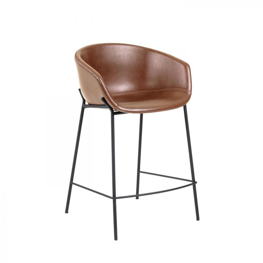 Scaun bar cu brate design modern ZADINE H-90cm CC1081U10H JG, Scaune dining ,  a