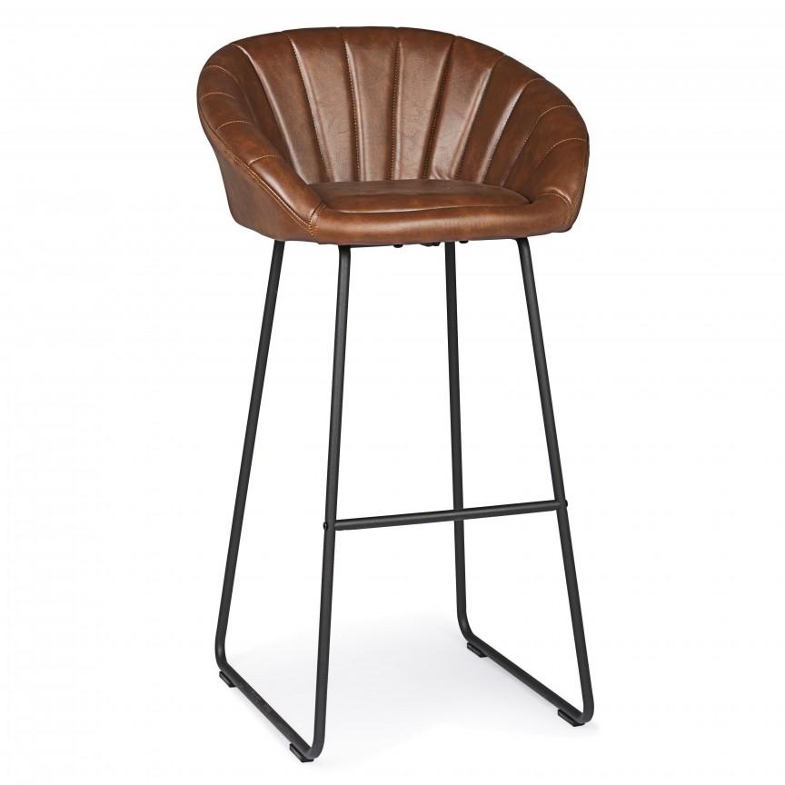Set de 2 scaune de bar JACKY VINTAGE BROWN 0710624 BZ, Scaune de bar,  a