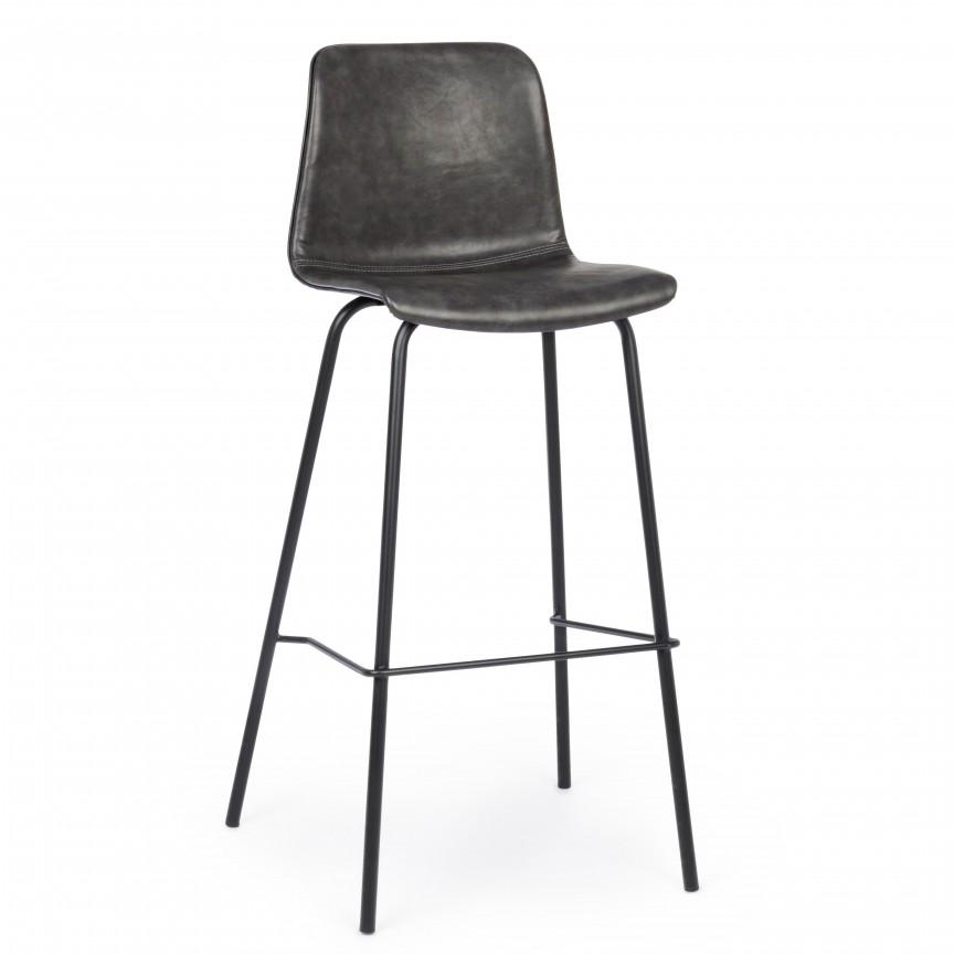 Set de 2 scaune de bar KYRA GREY VINTAGE 0734310 BZ, Scaune de bar,  a
