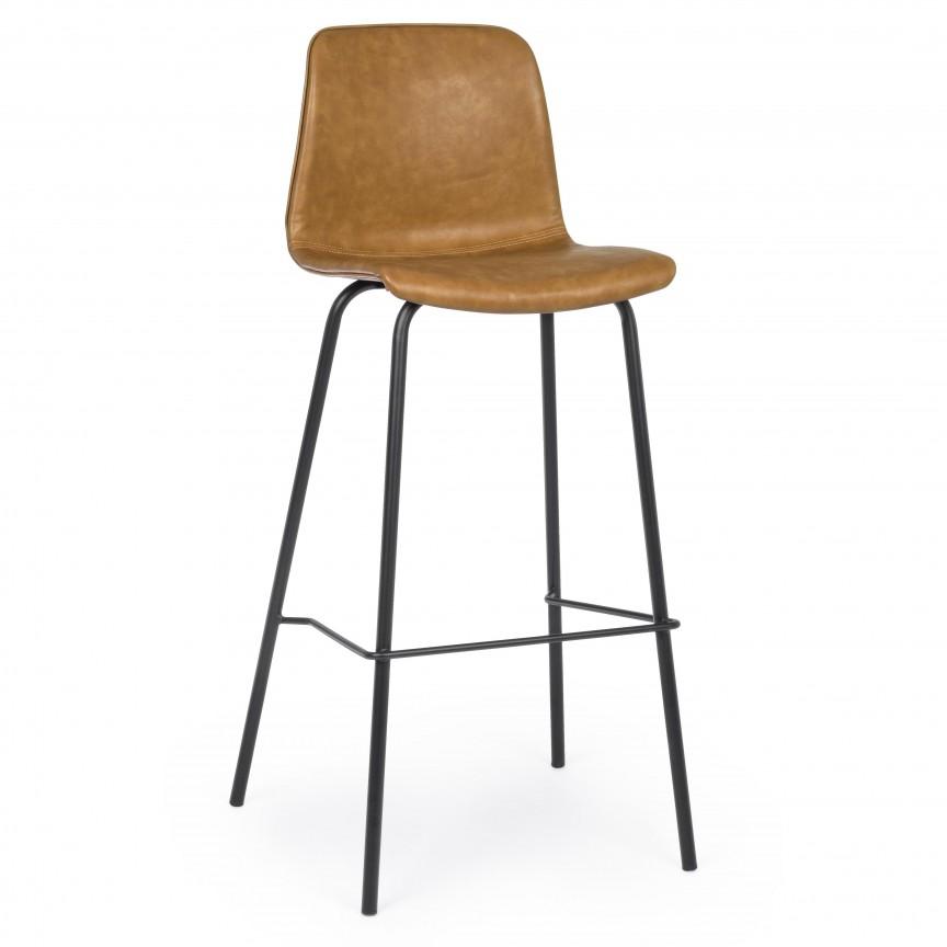 Set de 2 scaune de bar KYRA BROWN VINTAGE 0734311 BZ, Scaune de bar,  a