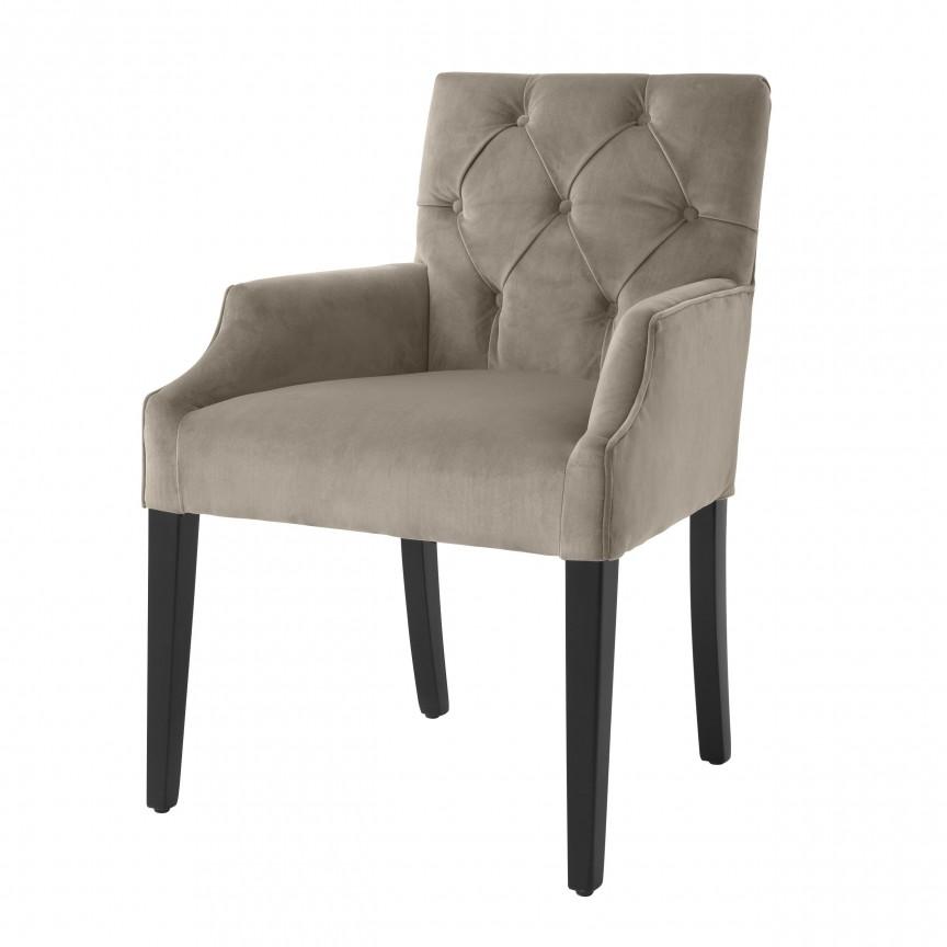 Scaun cu brate design elegant LUX Atena, catifea gri 113795 HZ, Scaune dining ,  a