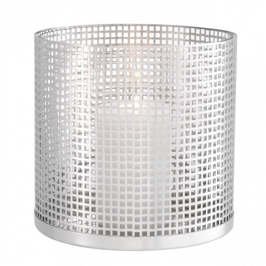 Suport de lumanare design LUX Sterling, nickel 113944 HZ, Parfumuri de camera- Idei cadouri- Obiecte decorative,  a