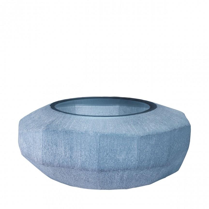 Vas decorativ design elegant Avance, albastru diam.36cm 113953 HZ, Parfumuri de camera- Idei cadouri- Obiecte decorative,  a