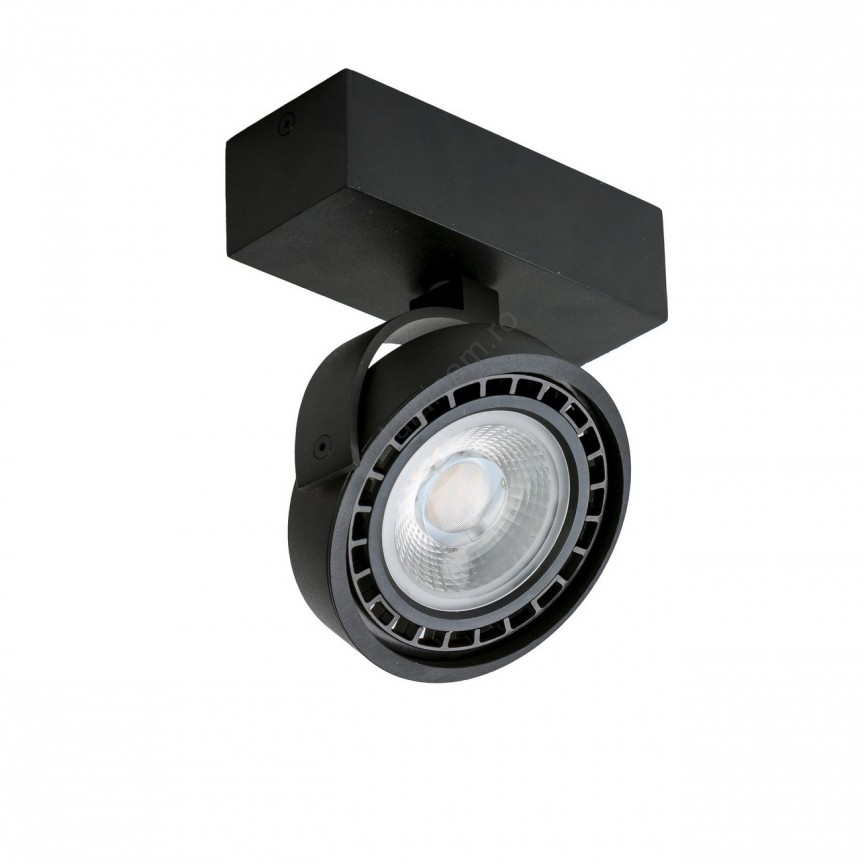 Spot aplicat directionabil JERRY 1 negru ZZ AZ1367, Spoturi - iluminat - cu 1 spot,  a