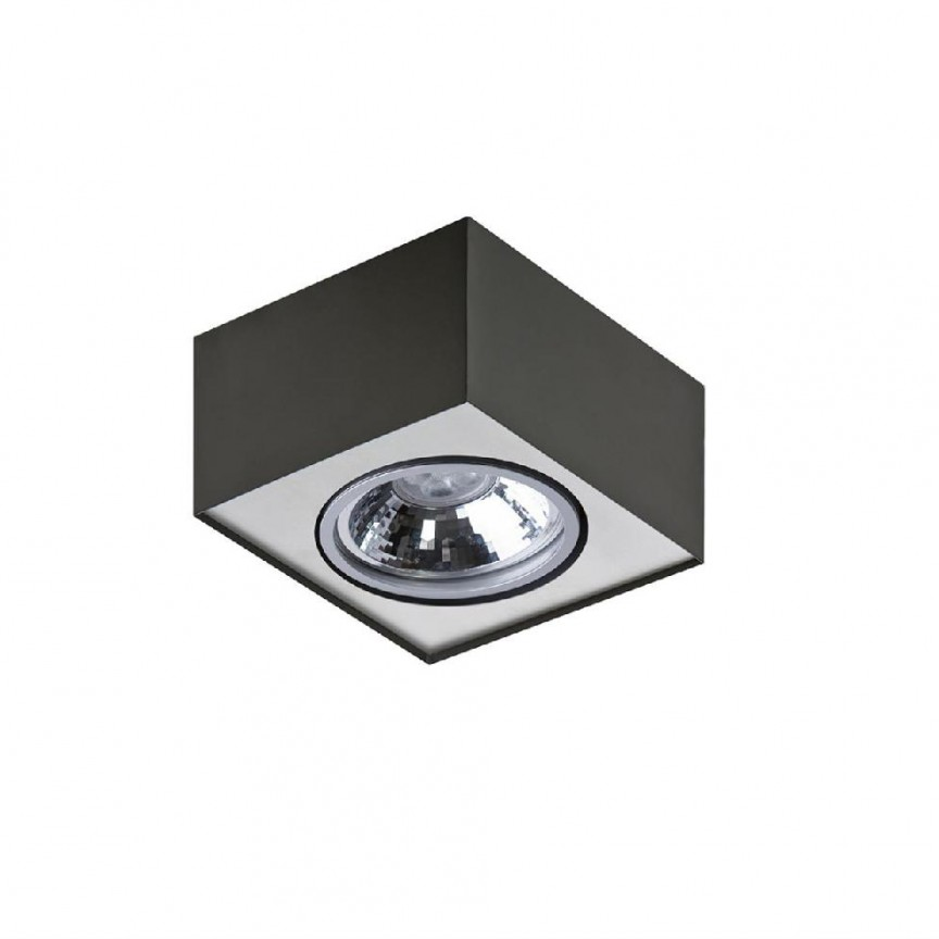 Spot aplicat directionabil PAULO 1 12V BK/ALU ZZ AZ1258, Spoturi - iluminat - cu 1 spot,  a