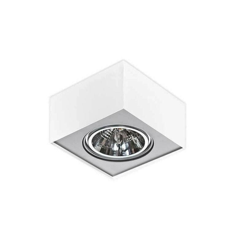 Spot aplicat directionabil PAULO 1 12V WH/ALU ZZ AZ1259, Spoturi - iluminat - cu 1 spot,  a