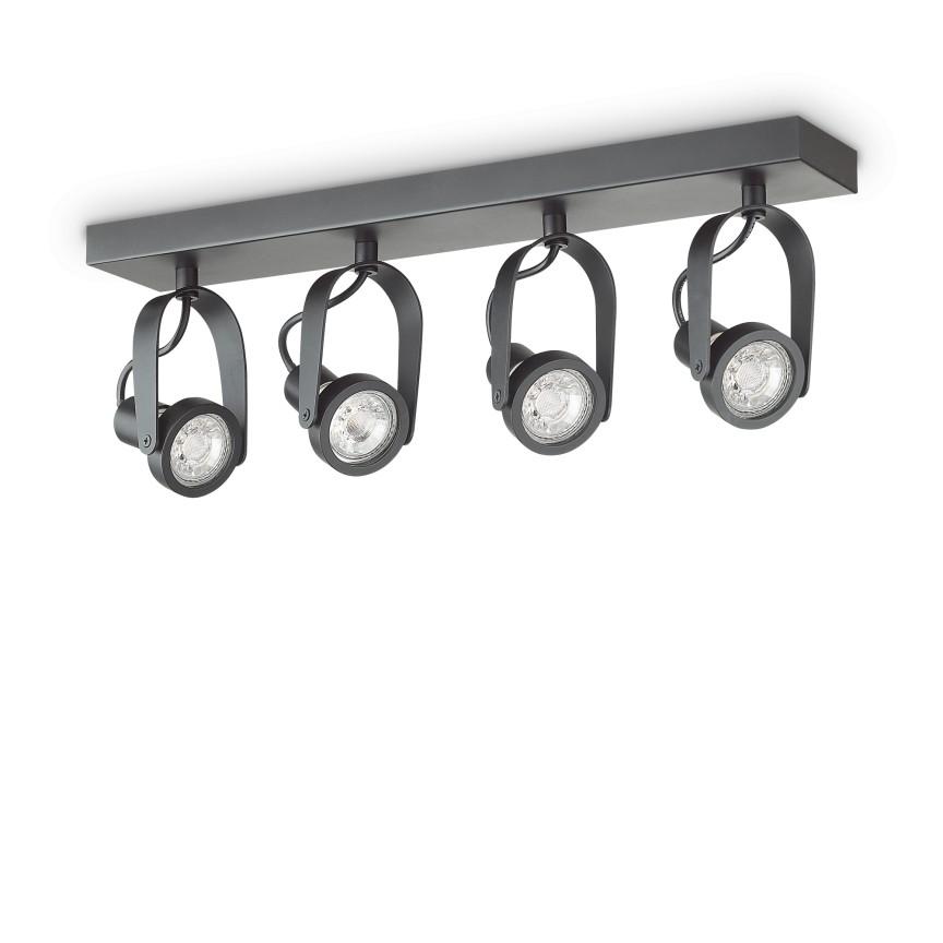 Aplica perete sau tavan cu spoturi directionabile GLIM COMPACT PL4 NERO 229607 IDL, Spoturi - iluminat - cu 4 spoturi,  a