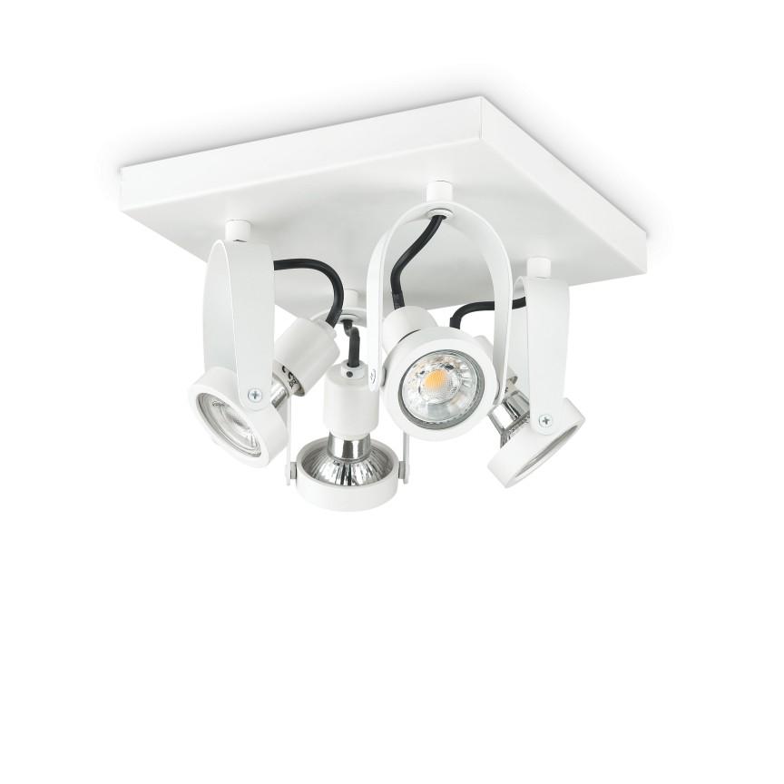 Plafoniera cu spoturi directionabile GLIM COMPACT PL4 SQUARE BIANCO 229614 IDL, Plafoniere cu spoturi, LED⭐ modele moderne corpuri de iluminat tip spoturi aplicate pe tavan sau perete.✅Design decorativ 2021!❤️Promotii lampi❗ ➽ www.evalight.ro. Alege oferte NOI de lustre interior tip plafoniere cu 4 spoturi LED, lumina cu directie reglabila pentru living, dormitor, bucatarie, baie, hol, camera copii, calitate de lux la cel mai bun pret. a